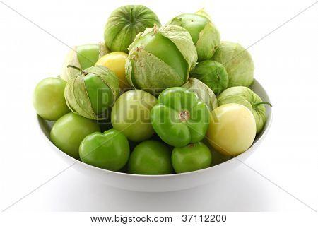 green tomatillo fruits, salsa verde ingredient