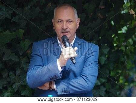 Bucharest, Romania - June 01, 2020: Calin Ile President At Fihr Romanian Hotels Association Speak Du
