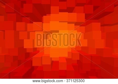 Art Red Color Blocks Abstract Pattern Background