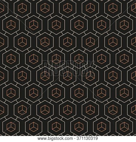 Continuous Geometric Graphic Diagonal, Shapes Pattern. Repetitive Creative Vector Dark Repeat Textur