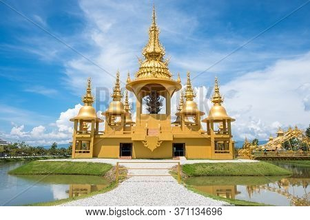 Golden Ganesha Shrine (ganesha Exhibition) In Wat Rong Khun An Iconic Tourist Attraction Place In Ch