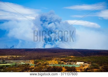 Bush Fires Smoke In The Outback - Australia
