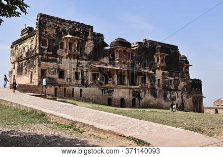 Gwalior, Madhya Pradesh/india : March 15, 2020 - Karan Palace In 'gwalior Fort'