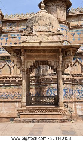 Gwalior, Madhya Pradesh/india : March 15, 2020 - Outside Structure Of Man Singh Palace, Gwalior Fort