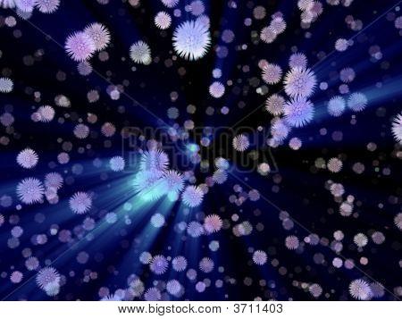 Fantasy Alien Particles In Black Background