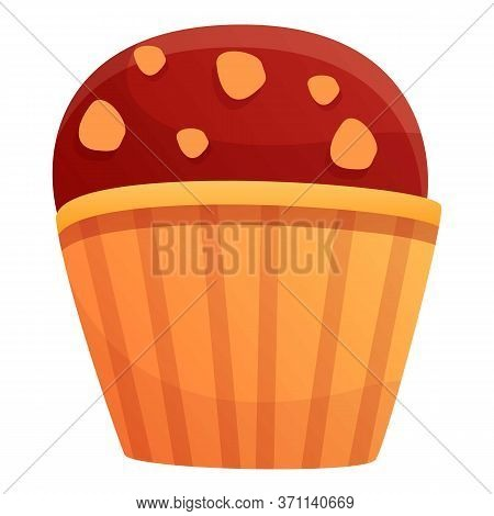 Cupcake Icon. Cartoon Of Cupcake Vector Icon For Web Design Isolated On White Background
