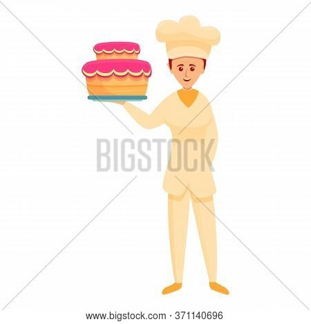 Confectioner Icon. Cartoon Of Confectioner Vector Icon For Web Design Isolated On White Background