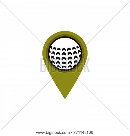 Golf Ball Pinter Vector Design Template Illustration