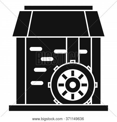 Water Mill Wheel Icon. Simple Illustration Of Water Mill Wheel Vector Icon For Web Design Isolated O