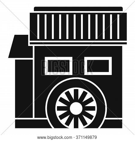 Water Mill House Icon. Simple Illustration Of Water Mill House Vector Icon For Web Design Isolated O
