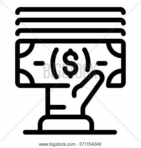 Marketing Profit Cash Icon. Outline Marketing Profit Cash Vector Icon For Web Design Isolated On Whi