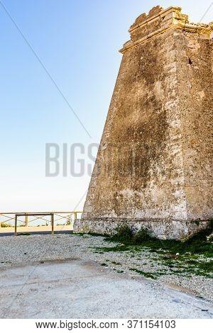 Mesa Roldan Tower, Cabo De Gata Nijar Natural Park In Almeria Province, Andalusia Spain. Carboneras