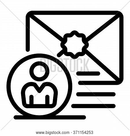 Email To Client Icon. Outline Email To Client Vector Icon For Web Design Isolated On White Backgroun