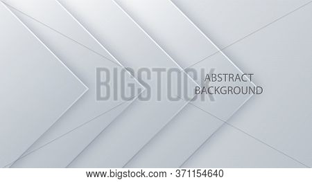 White Vector Background Square For Text And Message Website Design. Abstract 3d Background With Whit