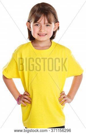 Child Kid Little Girl Upper Body Portrait Isolated On White