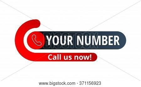 Call Us Now Button - Template For Contact Phone Number In Website Header  - Conspicuous Element With