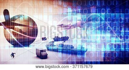 Supply Chain Management Technology Platform Solution Service 3d Render