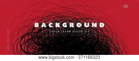 Abstract Red And Black Minimal Geometric Pattern Background, Multi Purpose Template, Swirly Gradient