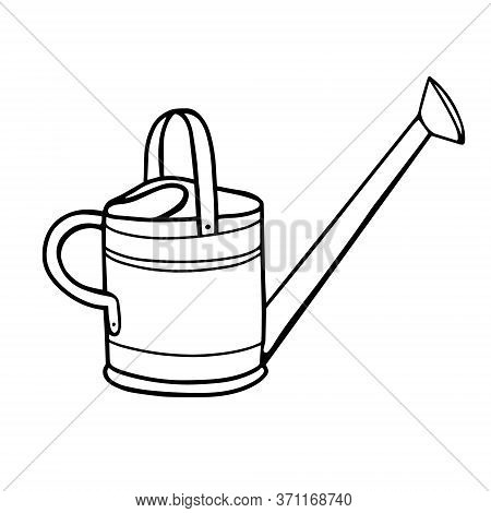 Garden Watering Can For Watering Plants. Watering Can For Watering Plants.vector Illustration In The