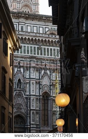 Florence, Italy - October 2019: Florence Cathedral Of Saint Mary Of The Flower (santa Maria Del Fior