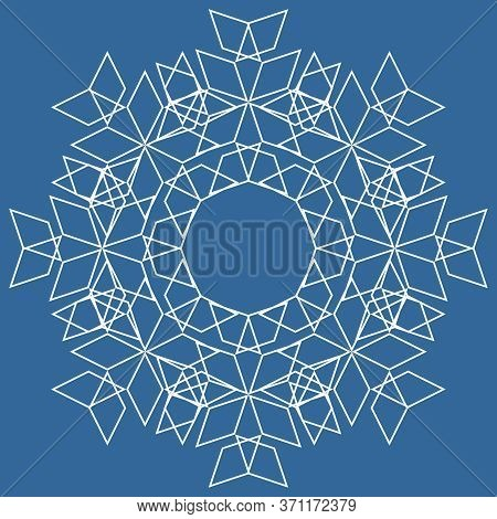 Tile Line Vector Pattern Or Blue And White Wallpaper Background