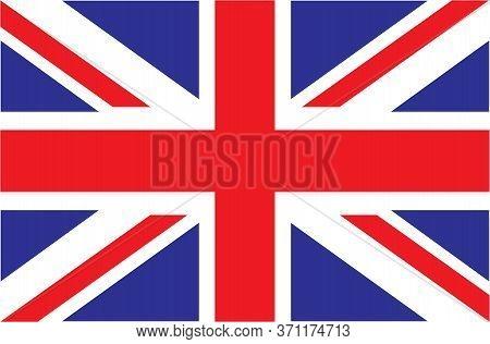 Uk. Union Jack. Flag Of United Kingdom. Official Colors. Correct Proportion. Vector Illustration. Th