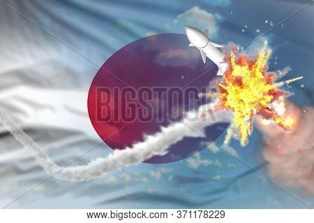 Japan Intercepted Supersonic Missile, Modern Antirocket Destroys Enemy Missile Concept, Military Ind