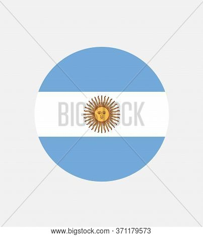 National Argentina Flag, Official Colors And Proportion Correctly. National Argentina  Flag. Vector
