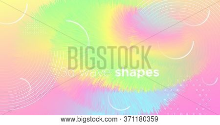 Abstract Color Liquid. Wave Pattern. Pastel Gradient Motion. Vector Creative Shape. Modern Movement.