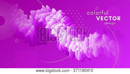 3d Movement. Wave Flyer. Pink Gradient Concept. Vector Creative Cover. Abstract Motion. 3d Movement.