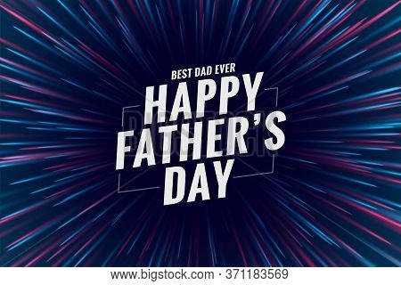 Happy Fathers Day Celebration Wishes Greeting Design