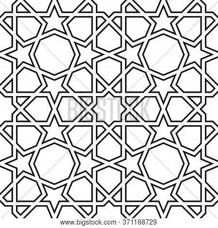 Girih Seamless Pattern. Authentic Arabian Pattern Style. Girih Pattern. Geometric Arabian Abstract B