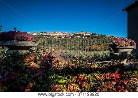 Landscape Of Castagneto Carducci From The Farm Road, In The Heart Of The Livorno Maremma, In The Cen