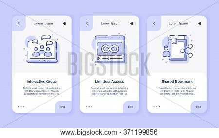 Onboarding Icon Online Course Interactive Group Limitless Access Shared Bookmark For Campaign Mobil