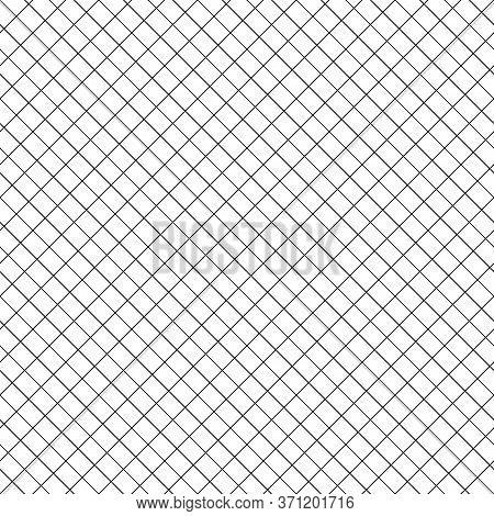 Seamless Surface Pattern With Mini Blocks Ornament. Diagonal Stripes Grill Background. Grid Motif. C