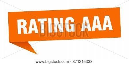 Rating Aaa Speech Bubble. Rating Aaa Ribbon Sign. Rating Aaa Banner