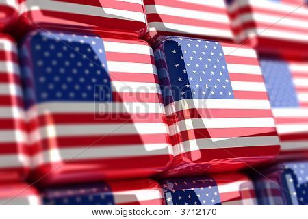 American Flag Cubes