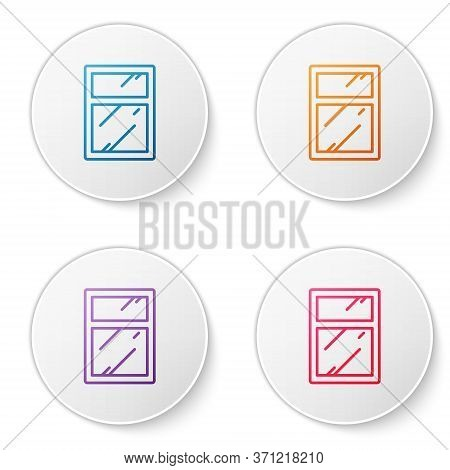 Color Line Cleaning Service For Windows Icon Isolated On White Background. Squeegee, Scraper, Wiper.