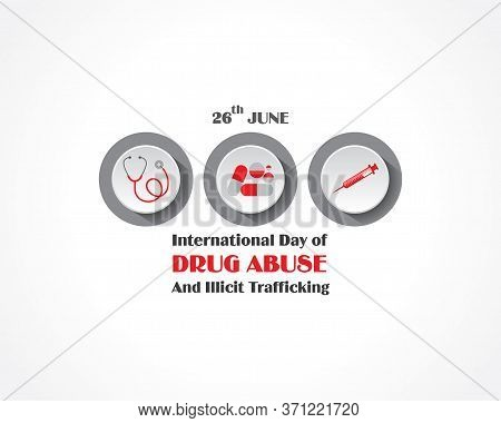 Vector Illustration Of International Day Against Drug Abuse And Trafficking Observed On 26th June
