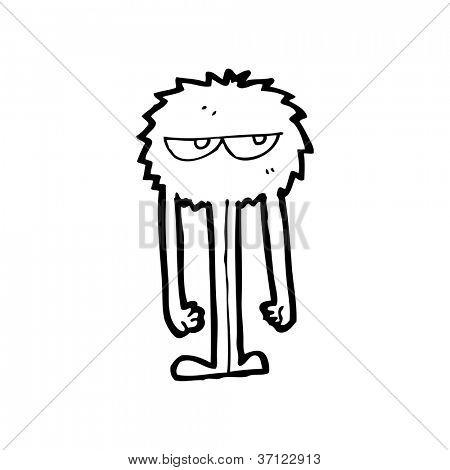 cartoon furry monster poster