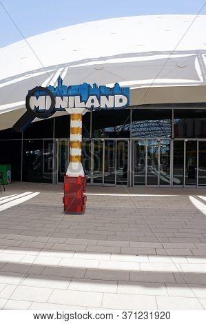 Uae, Dubai - July 16, 2018: Entrance Miniland Outdoor Legoland
