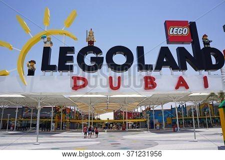 Uae, Dubai - July 16, 2018: Entrance Outdoor Legoland