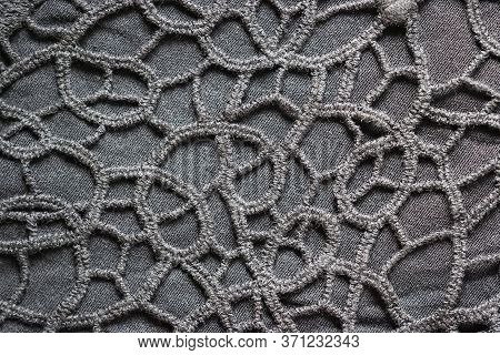 Handmade Black Lace, A Openwork Embroidery Background