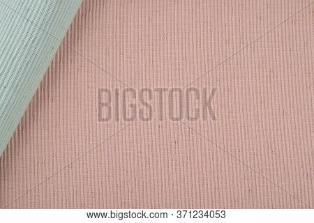 Blue And Pink Cotton Textile Placemat Background, Table Placemat