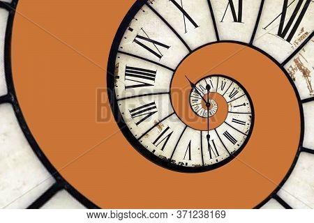 Spiral Clock, Twisted Time, Surreal Infinity, Selective Focus