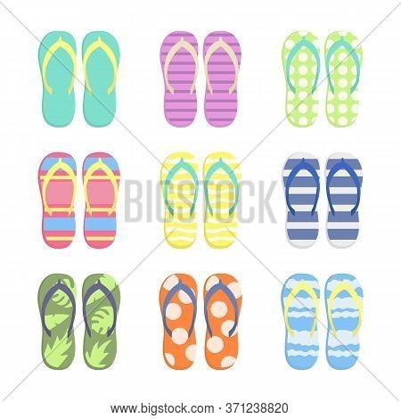 Colorfut Set Of Cute Slates. Vector Illustration.