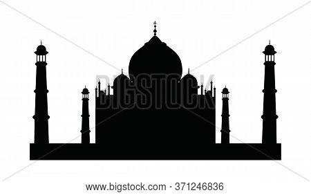 Taj Mahal Vector Icon, Vector Color Illustration