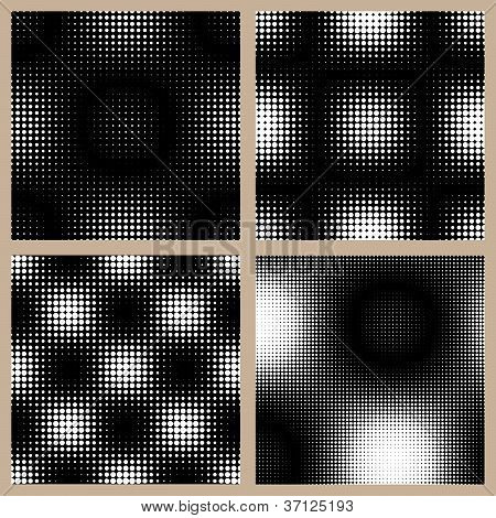 Set of Halftone Patterns - Seamless Backgrounds