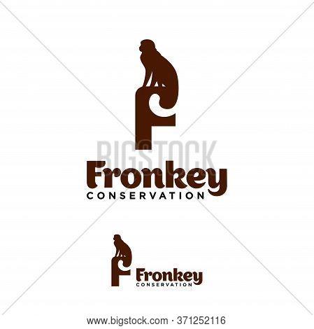 Monkey Wildlife Conservation Logo Vector Template Design. Vector Illustration.