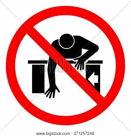 Do Not Reach Into Symbol Sign, Vector Illustration, Isolate On White Background Label .eps10
